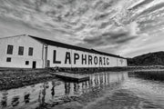 Laphroaig Distillery Islay Black and White Fine Art Print by Wandering Spirits Global