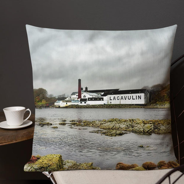 Lagavulin Distillery Soft Colour Premium Pillow by Wandering Spirits Global