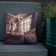 Still Squadron Caol Ila Sepia Toned Premium Pillow by Wandering Spirits Global