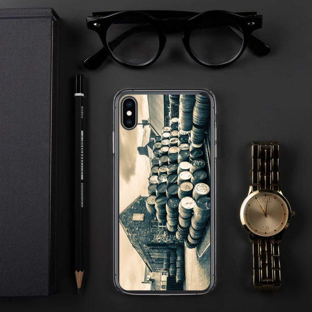 iPhone XS Max Empty Casks Glengyle Golden Toned iPhone Case by Wandering Spirits Global