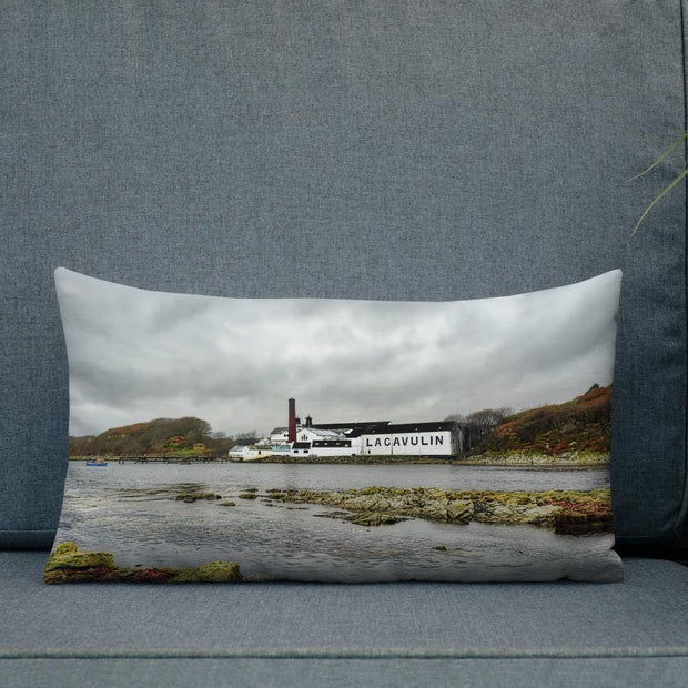 20×12 Lagavulin Distillery Soft Colour Premium Pillow by Wandering Spirits Global