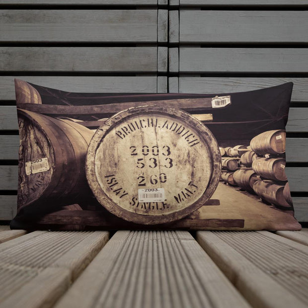 Bruichladdich 2003 Cask Soft Colour Premium Pillow by Wandering Spirits Global