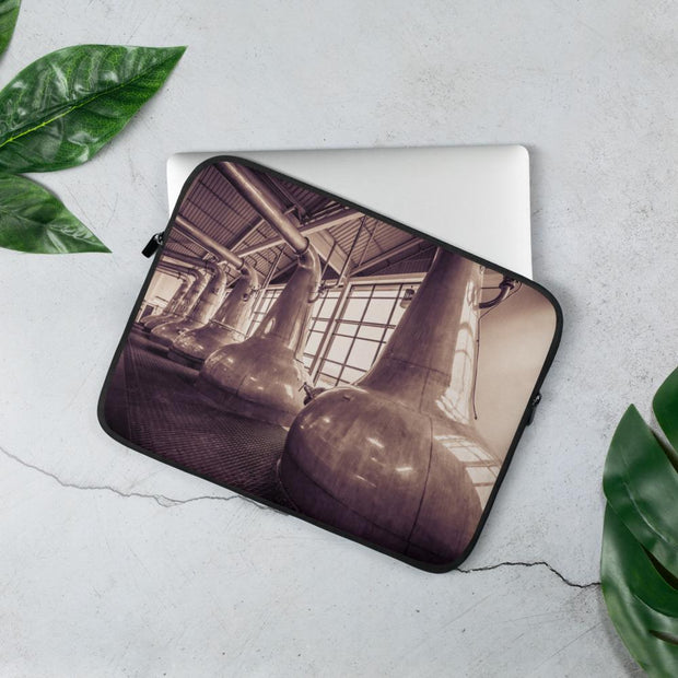 13 in Still Squadron Caol Ila Sepia Toned Laptop Sleeve by Wandering Spirits Global