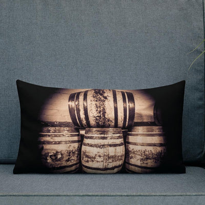 20×12 Octave Casks Sepia Toned Premium Pillow by Wandering Spirits Global