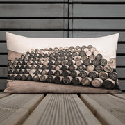 Empty Glengyle Casks Sepia Toned Premium Pillow by Wandering Spirits Global