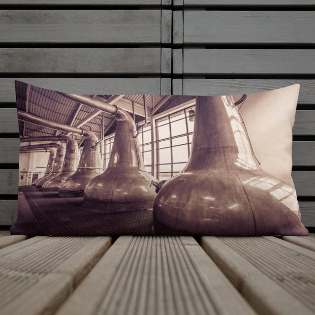 20×12 Still Squadron Caol Ila Sepia Toned Premium Pillow by Wandering Spirits Global