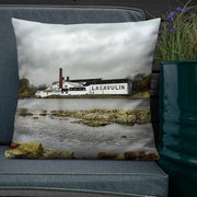 22×22 Lagavulin Distillery Soft Colour Premium Pillow by Wandering Spirits Global