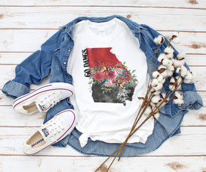T-Shirt Georgia Flowers