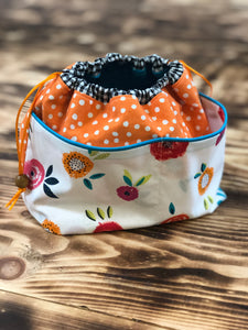 Toy Bag Polka Dot Flowers