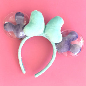 Mint and Purple Balloon Ears - Limited