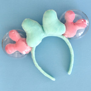 Mint and Pink Balloon Ears - Limited