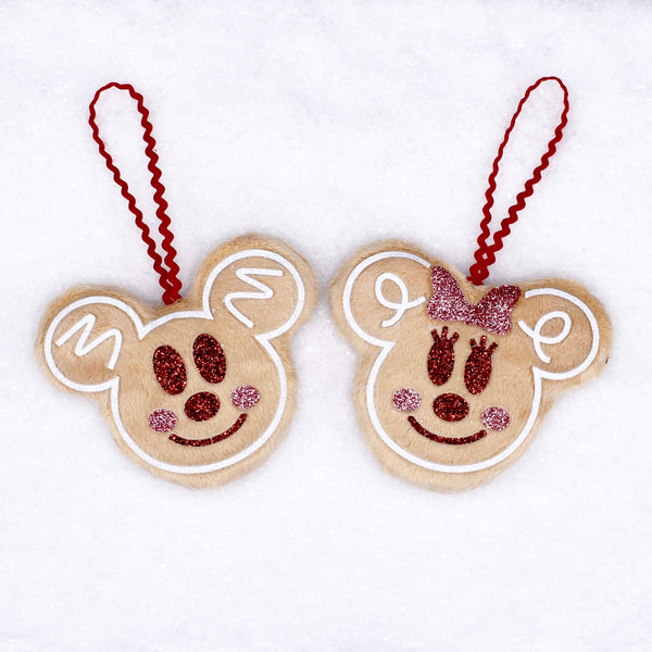Gingerbread Mice Ornament set