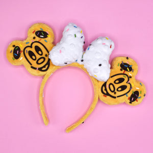 Mickey Waffle Mouse Ears - Cream and Sprinkles