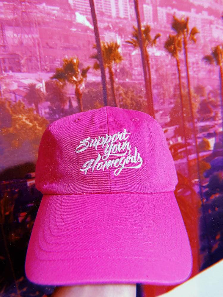 Support Your Homegirl Hot Pink Hat 💘