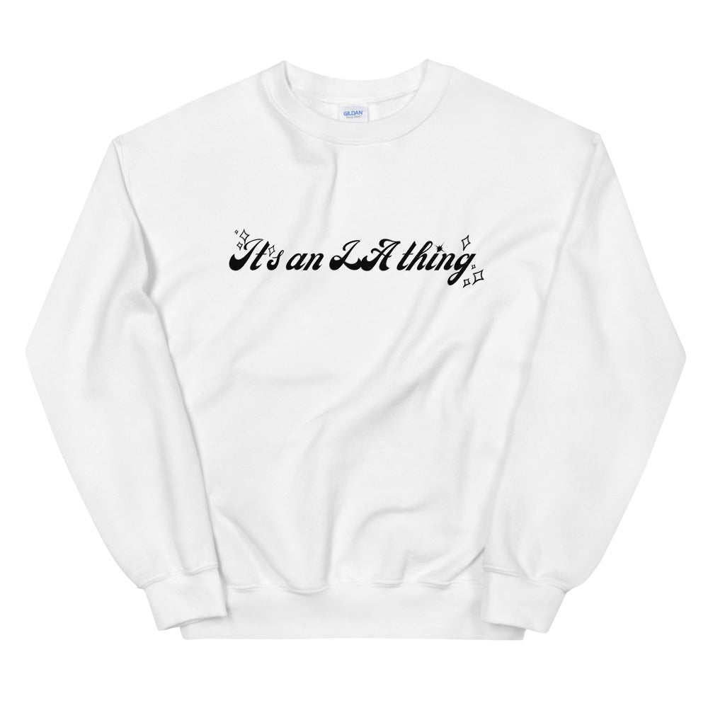 It's an LA Thing Comfy Sweater in WHITE