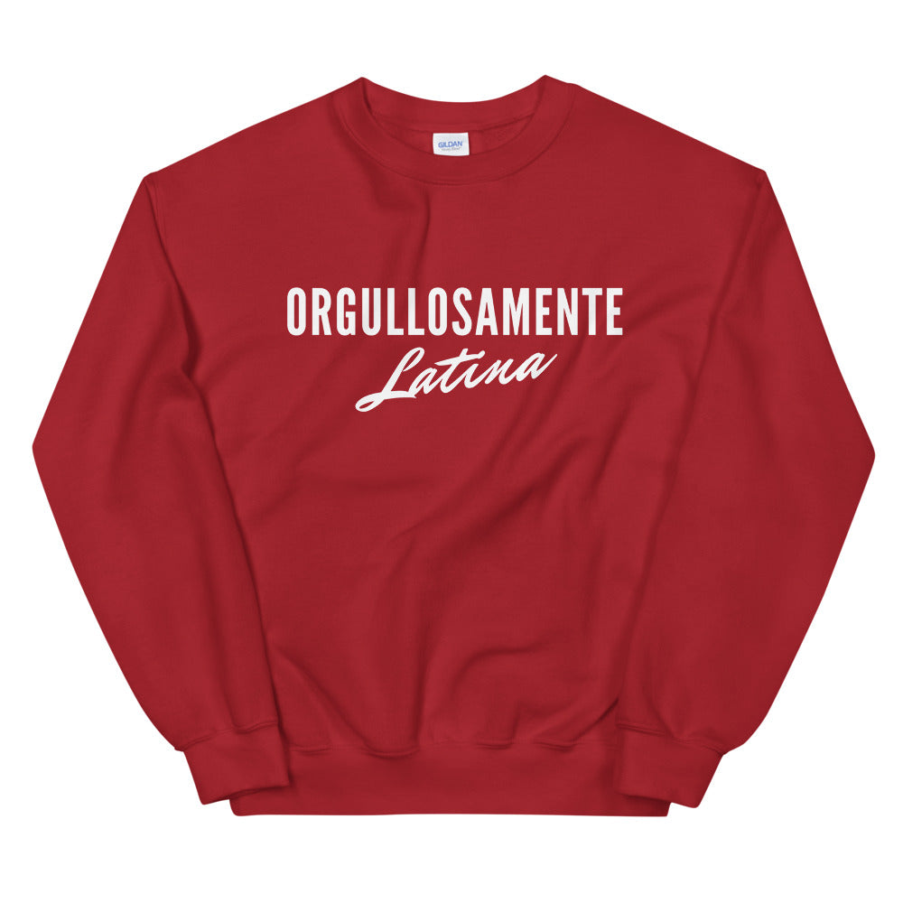 Orgullosamente Latina Comfy Red Sweatshirt