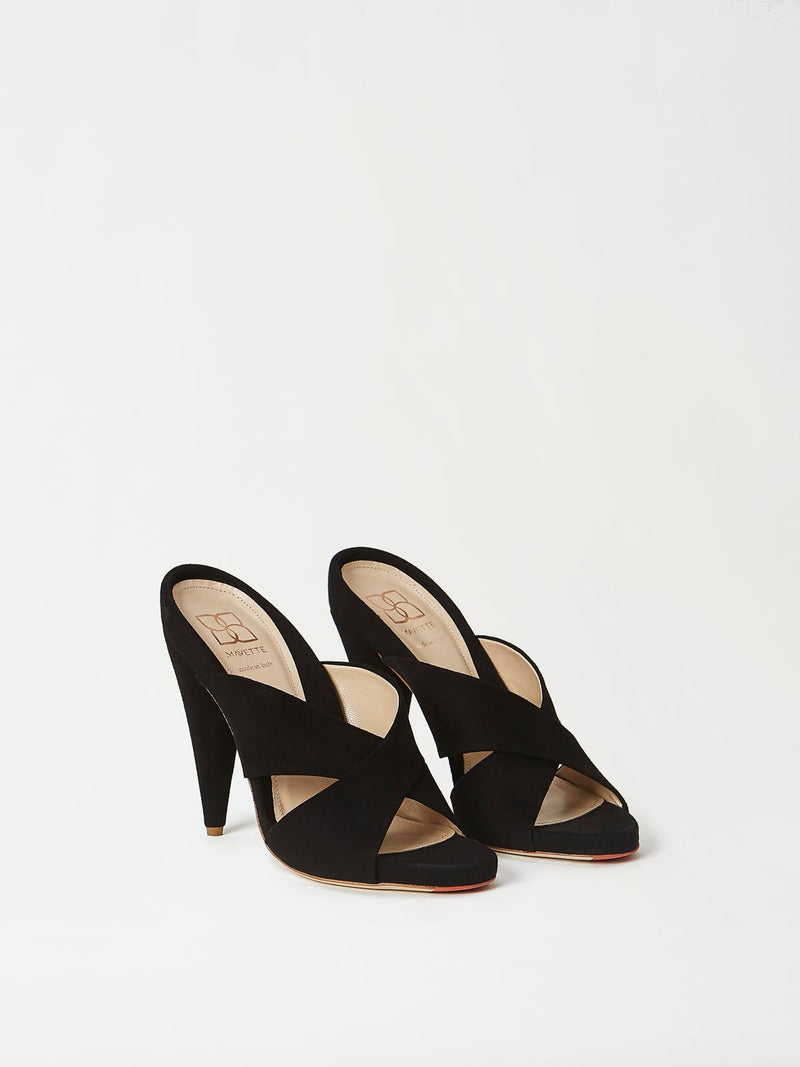 A Pair of Mavette Bari Sandals Black Top-Side View