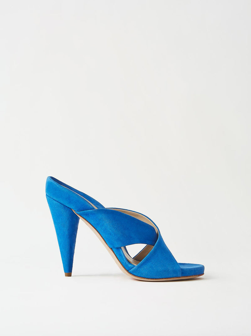 Mavette Bari Sandal Blue Side View
