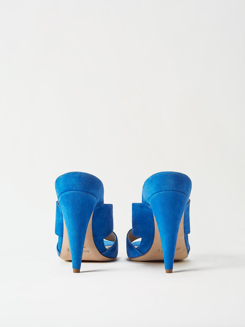 A Pair of Mavette Bari Sandals Blue Back View