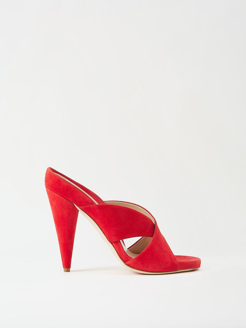 Mavette Bari Sandal Red Side View