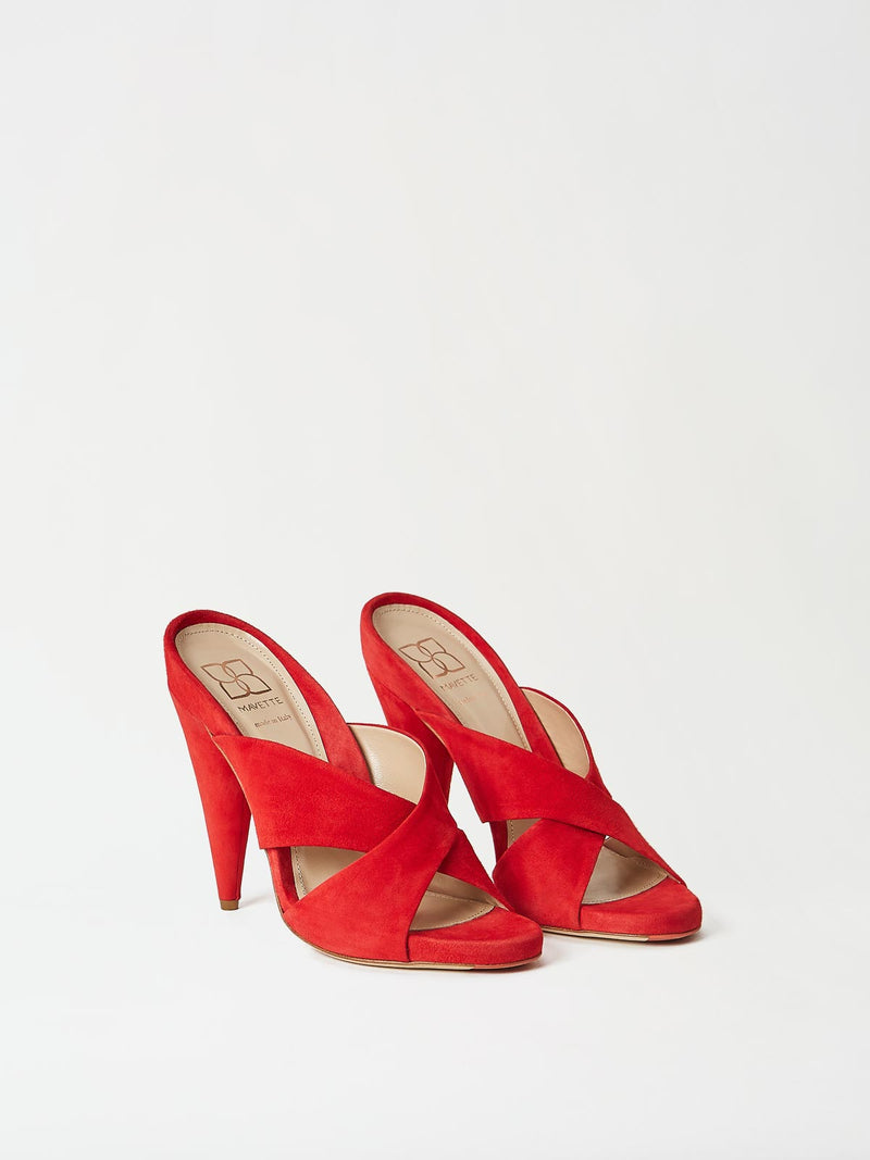 A Pair of Mavette Bari Sandals Red Top-Side View