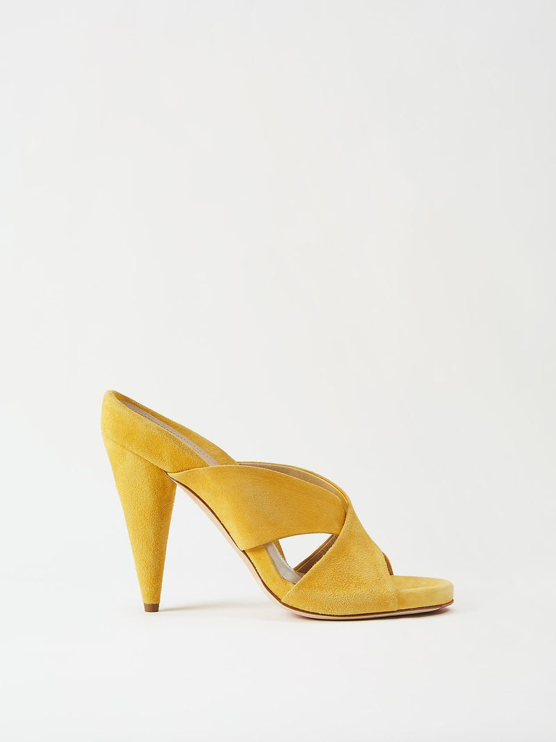 Mavette Bari Sandal Yellow Side View