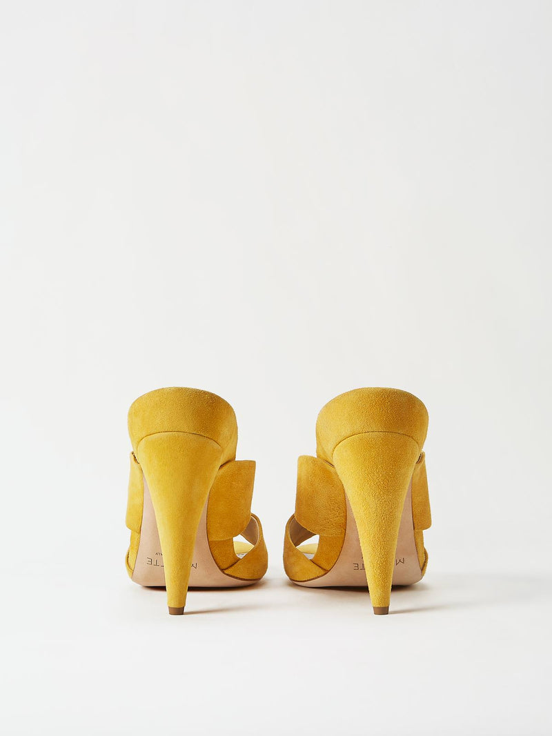A Pair of Mavette Bari Sandals Yellow Back View