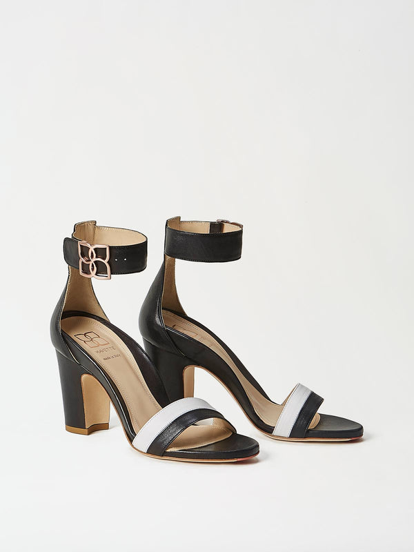 A Pair of Mavette Bellaria Sandals Black Side-Front View