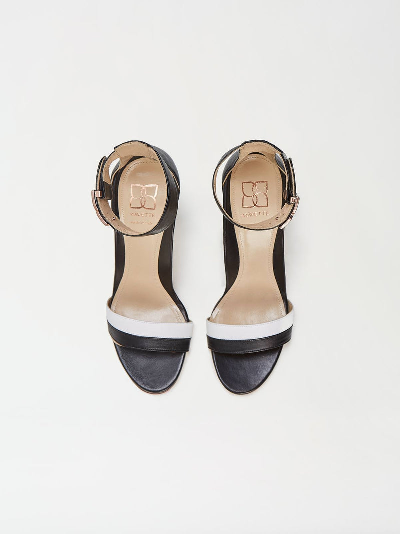 A Pair of Mavette Bellaria Sandals Black Top View