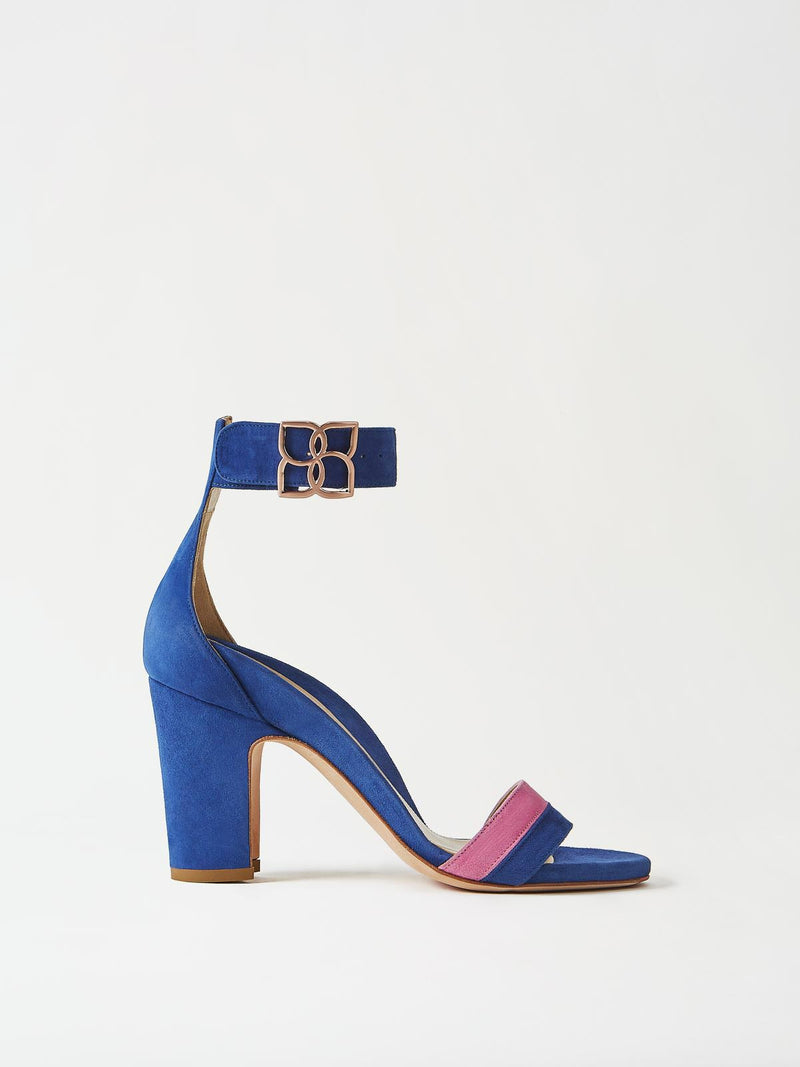 Mavette Bellaria Sandal Blue Side View