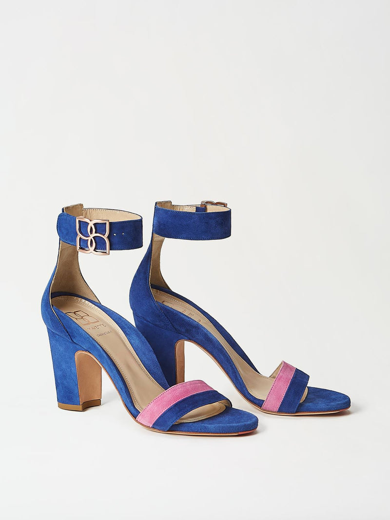 A Pair of Mavette Bellaria Sandals Blue Side-Front View