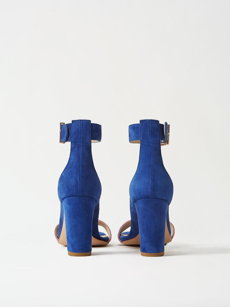 A Pair of Mavette Bellaria Sandals Blue Back View