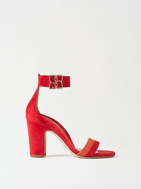 Mavette Bellaria Sandal Red Side View