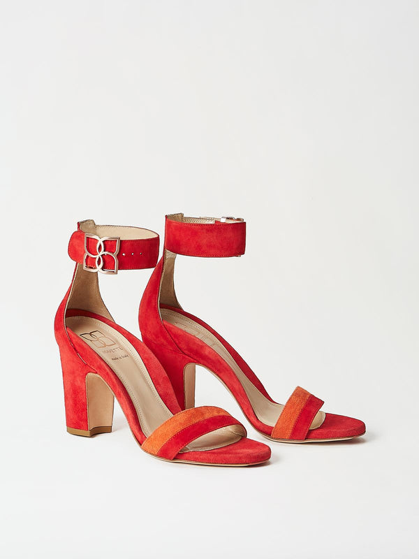 A Pair of Mavette Bellaria Sandals Red Side-Front View