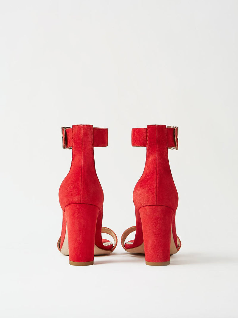A Pair of Mavette Bellaria Sandals Red Back View