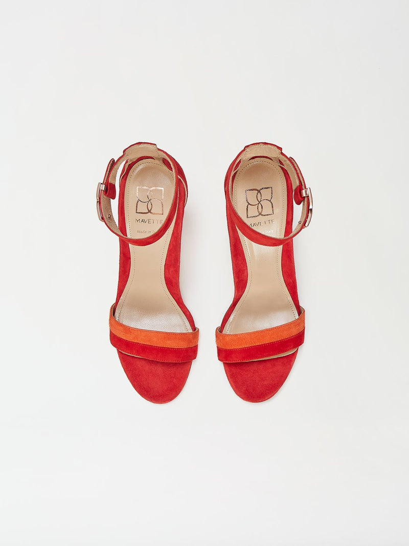 A Pair of Mavette Bellaria Sandals Red Top View