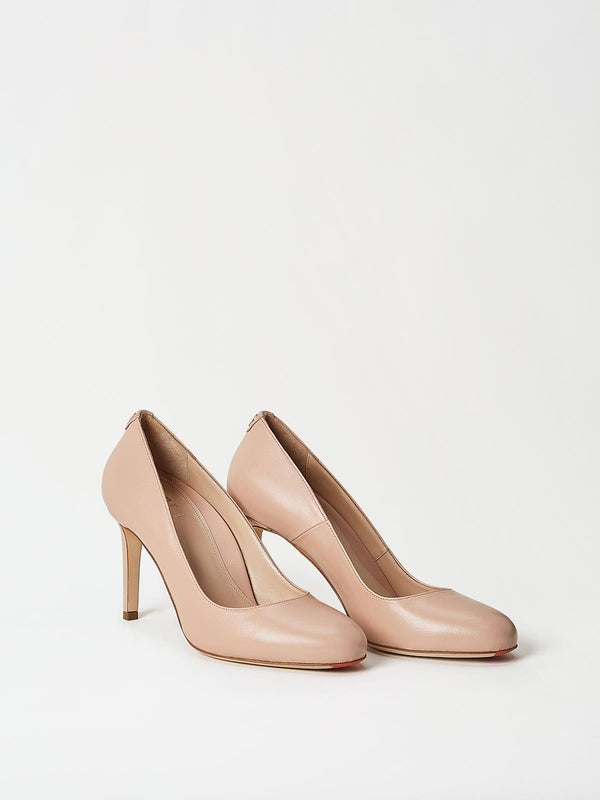 A Pair of Mavette Camerino Pumps Nude Side-front View