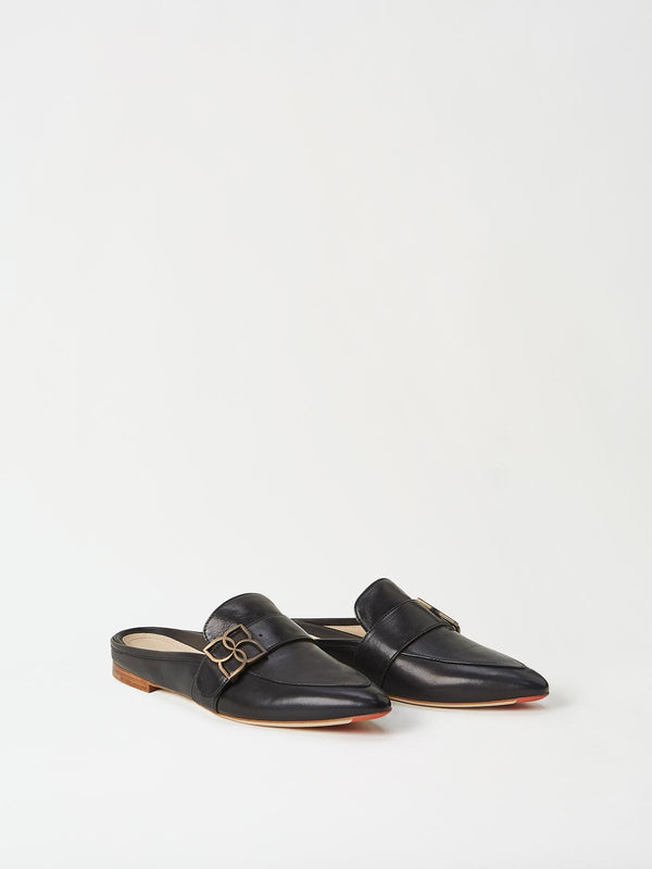 A Pair of Mavette Catania Mule Black Side-front View