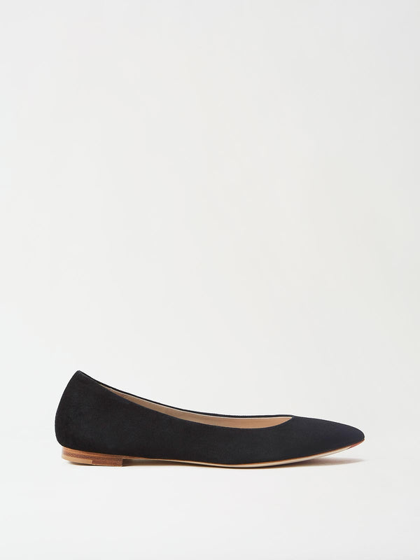 Mavette Emilia Ballet Flats Black Side View