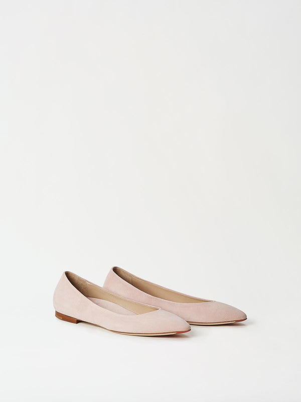 A Pair of Mavette Emilia Ballet Flats Blush Side-front View