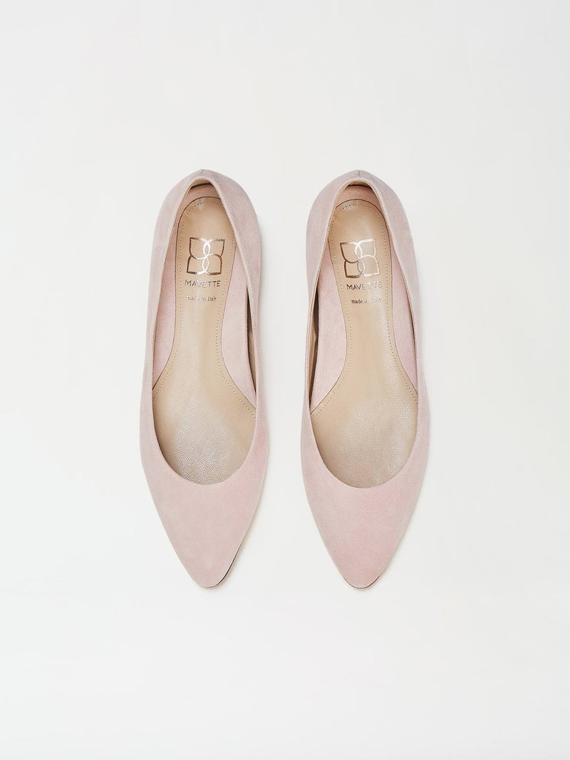 A Pair of Mavette Emilia Ballet Flats Blush Top View