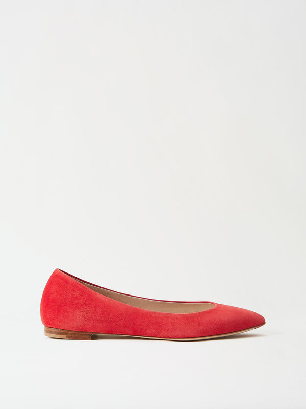 Mavette Emilia Ballet Flats Red Side View