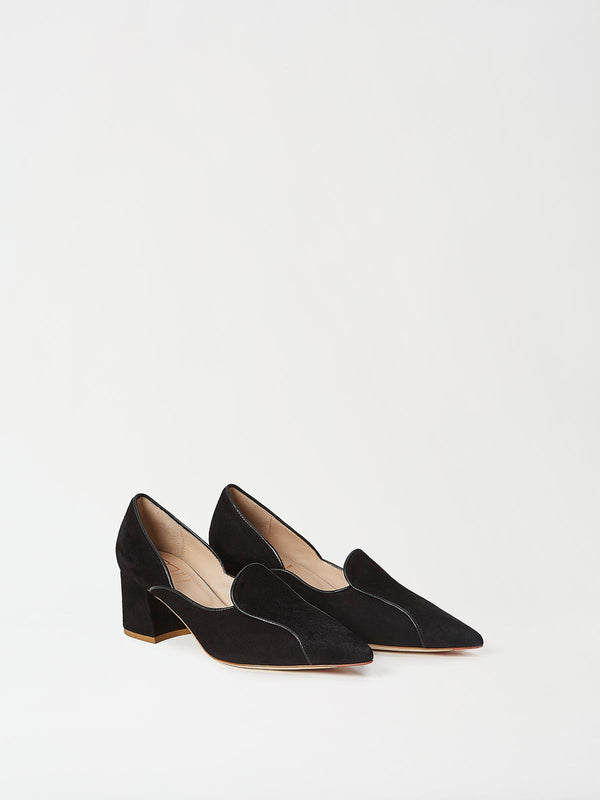 A Pair of Mavette Fiona Loafers Black Side-front View