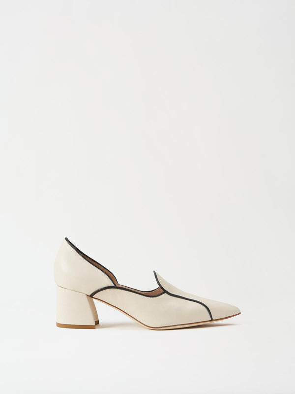Mavette Fiona Loafer Ivory Side View