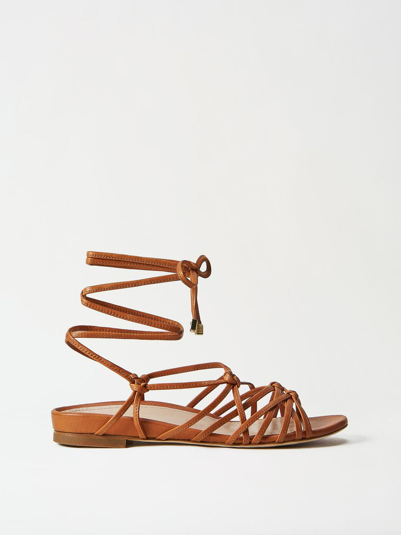 Mavette Greca Leg Wrap Sandal - Side View