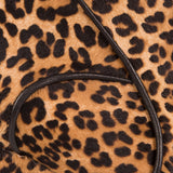 Close up on Mavette Leo Boots Leopard Print Calf hair