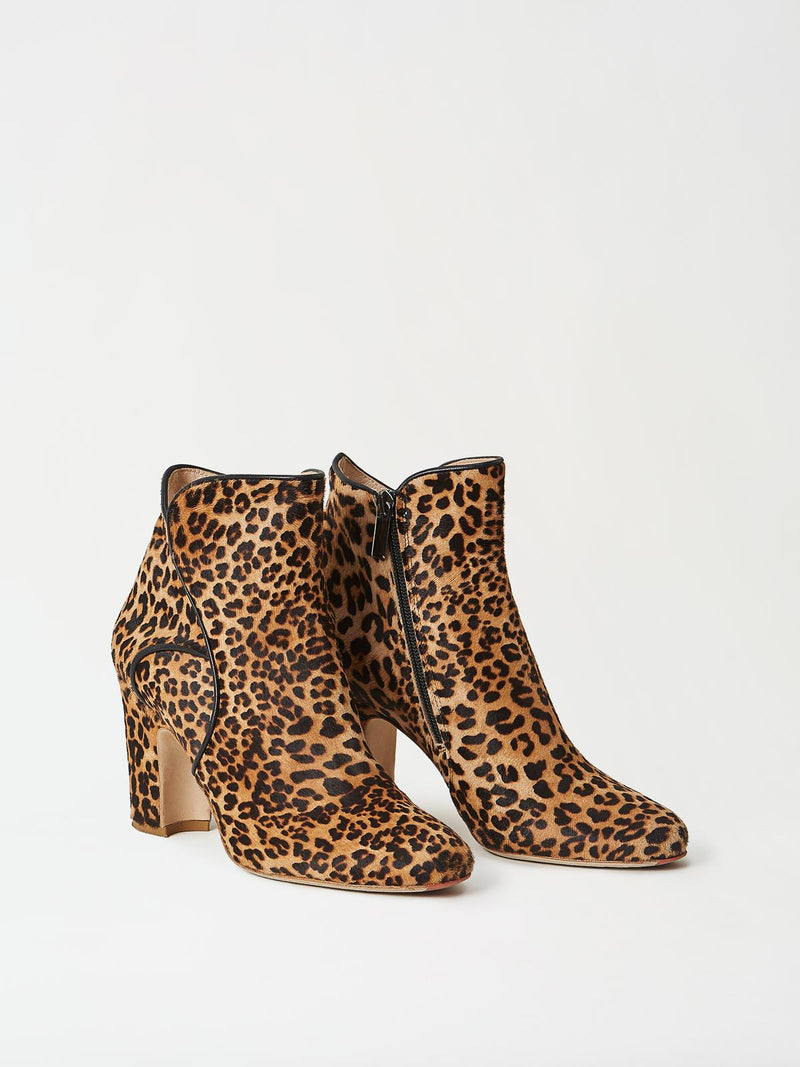 A Pair of Mavette Leo Boots Leopard Side-Front View