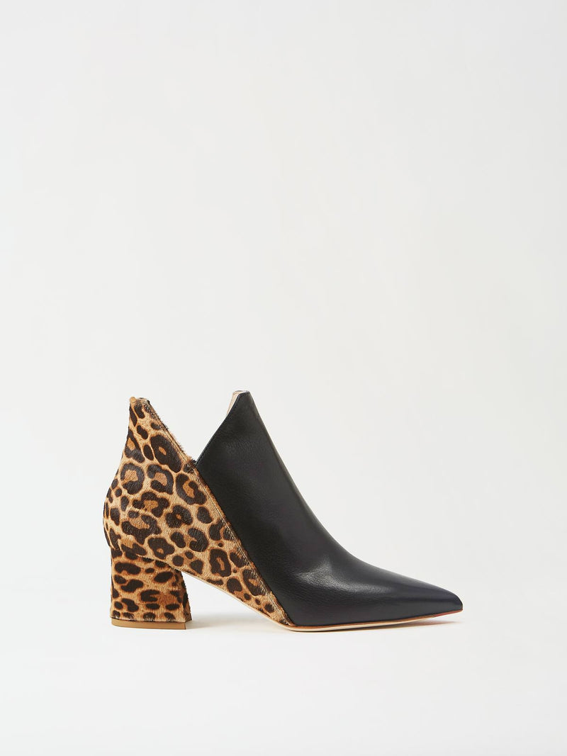 Mavette Lunari Bootie Black Leopard Side View