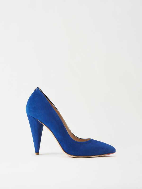 Mavette Madonna Pump Blue Side View