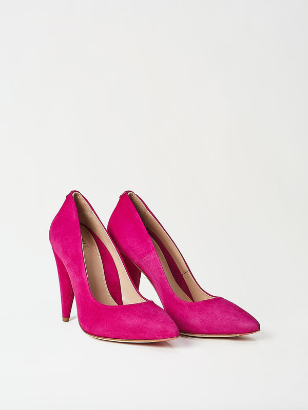 A Pair of Mavette Madonna Pumps Pink Side-Front View